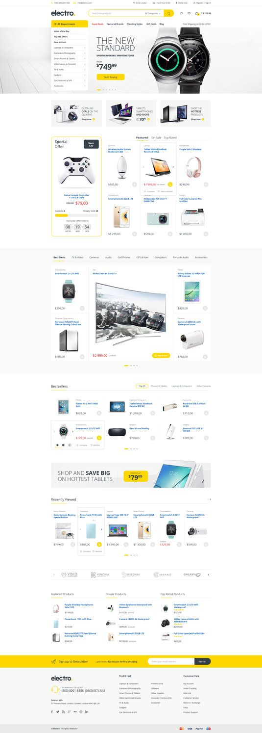 Electro - Electronics eCommerce PSD by bcubepl on DeviantArt