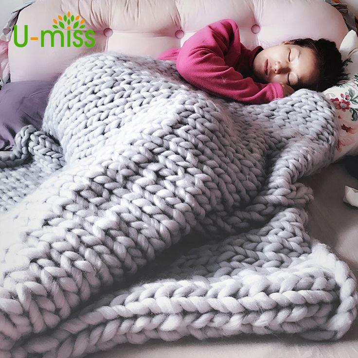 安いU ミスファッションハンド分厚いウールニット毛布厚い糸メリノウールかさばる編スロー毛布、購入品質毛布、直接中国のサプライヤーから:U-ミスファッションハンド分厚いウールニット毛布厚い糸メリノウールかさばる編スロー毛布