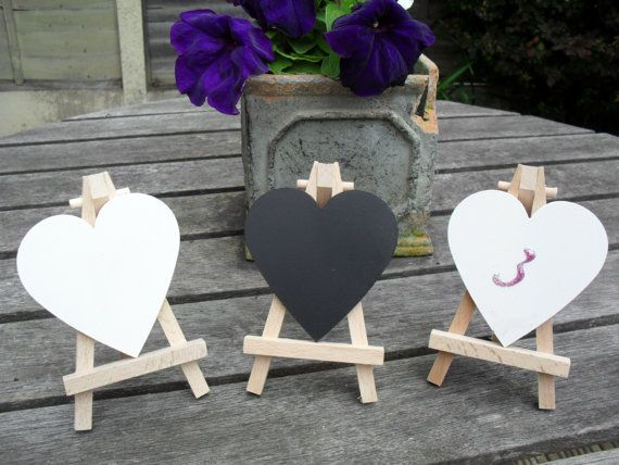 Mini Chalkboard Wedding Table Numbers  Easel Table by smccathie, $5.99