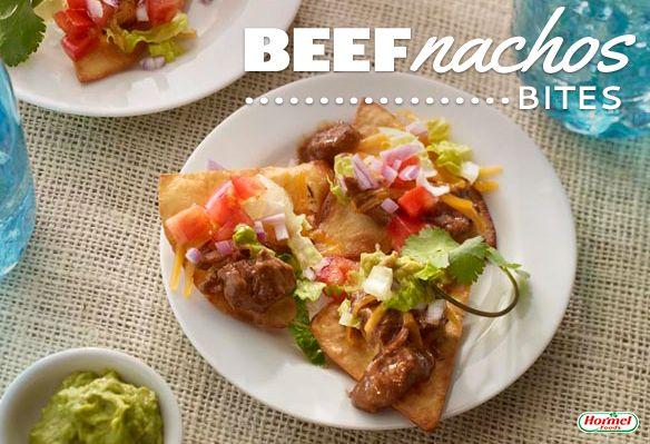 ... on them . #HFcincodemayo Nachos Bites, Individual Nachos, Beef Nachos