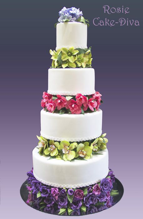 My Second Wedding Cake by Rosie Cake-Diva (4/24/2013) View details here: http://cakesdecor.com/cakes/60028