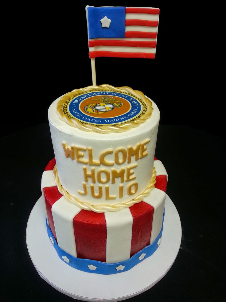 Cookie Jar Bakeshop I Custom Cakes I Military Cake I Welcome Home Cake I Patriotic Cake I Red, White & Blue Cake I US Flag Cake