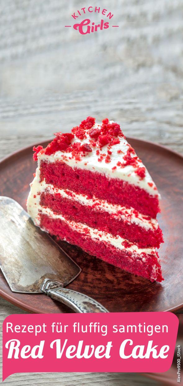 Rezept für fluffig samtigen Red Velvet Cake