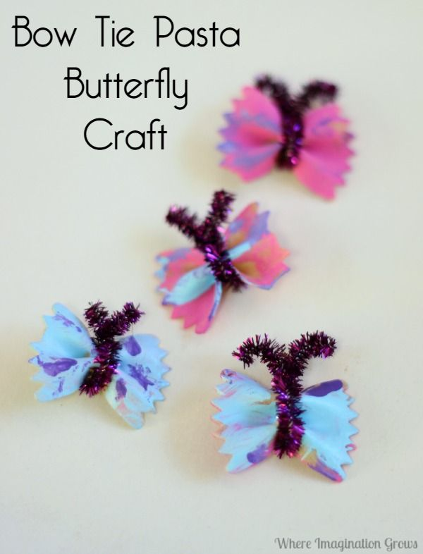 Butterfly Craft with Bow Tie Pasta for Preschoolers | Where Imagination Grows