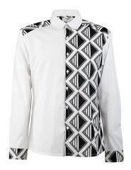 Men's African print shirt-White colour block – OHEMA OHENE AFRICAN INSPIRED FASHION