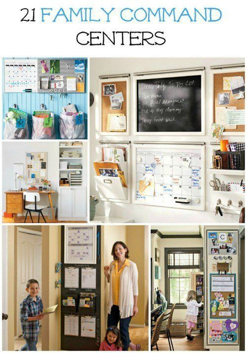 21 Family Command Centers for an organized home. Could your home use a little organization? Or maybe a plan? Keep your entire home organized from cleaning schedules to meal planning, can be done using a family command center. Click through for these great ideas and get organizing tips for the upcoming school year!