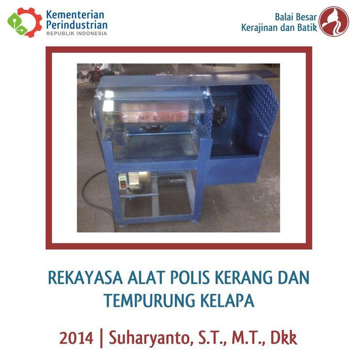 Rekayasa Alat Polis Kerang dan Tempurung Kelapa | BBKB Kemenperin | Litbang 2014 #R&D #Craft #Kerajinan #Kerang