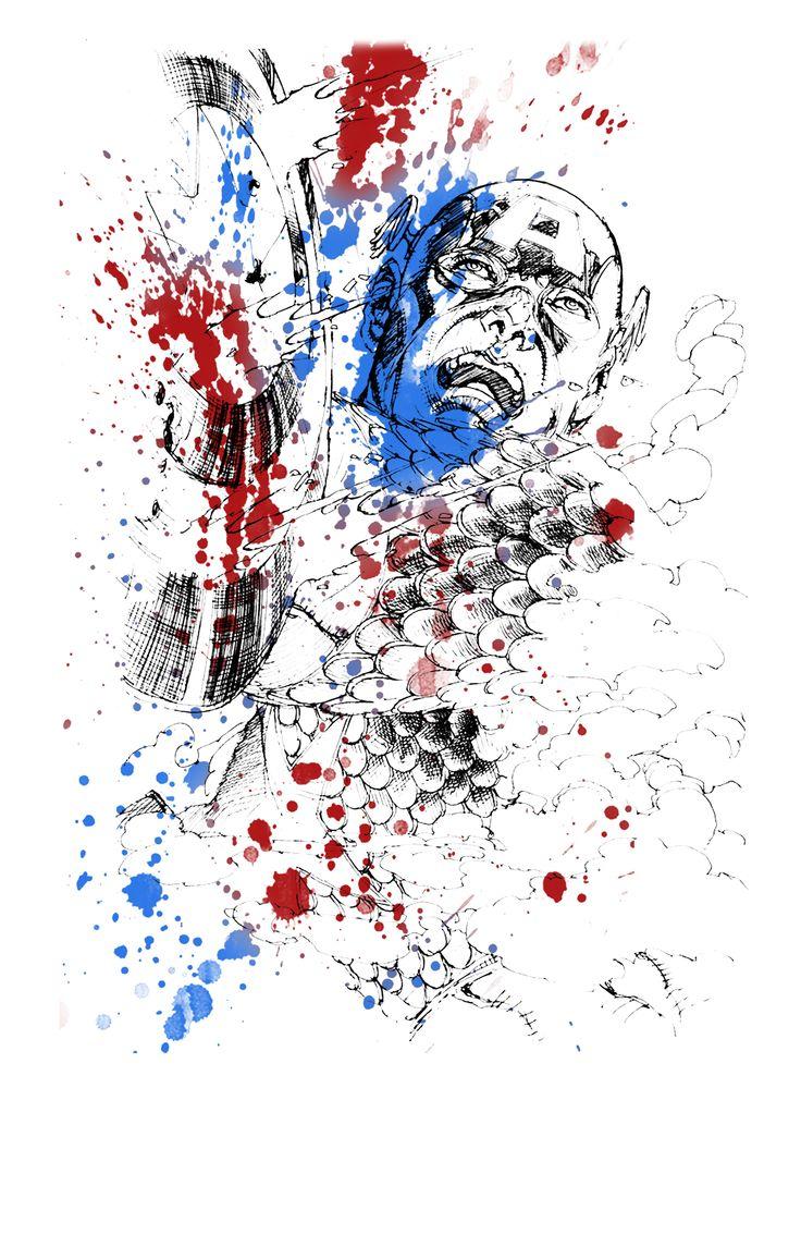 Captain America Graphic Tee