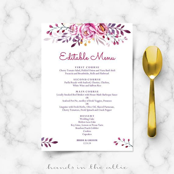 25+ cute Menu card template ideas on Pinterest Fast business - dinner party menu template
