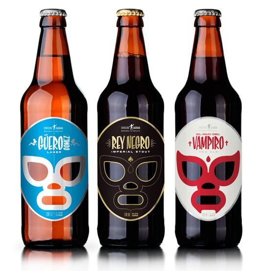 Fantastic branding across different styles of beer with die-cuts. cerveceriasagrada.jpg 535×553 pixels