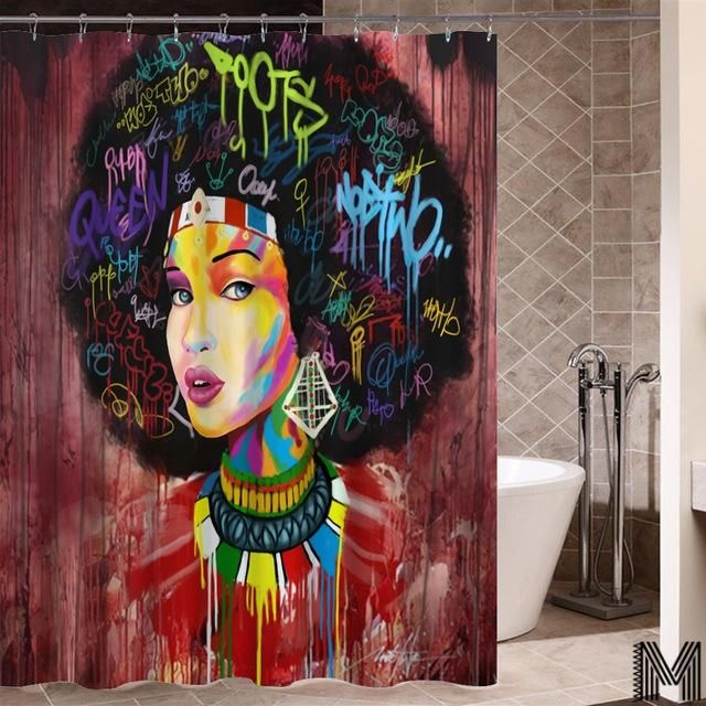 Queen Of Morocco Shower Curtain Bathroom Shower Curtains African Shower Curtain Graffiti