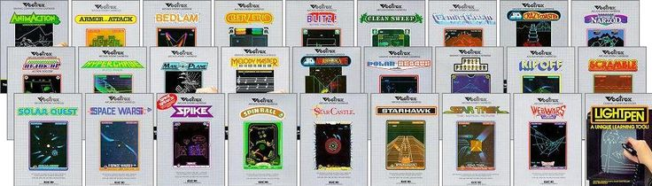 all Vectrex games released by GCE (except for Mail Plane - that was a prototype game: not released)