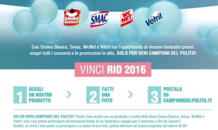 #Concorso Campioni del Pulito - Vinci Rio 2016 e #buoniacquisto