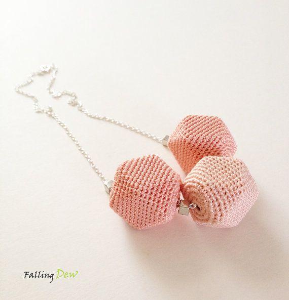 Geometric Form Necklace Pastel Colours Textile by FallingDew