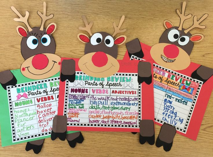 LOVE these cute reindeer! Great for bulletin boards. Includes several different options for the work to display. Adds a great academic push to the craftivity without losing the fun factor.
