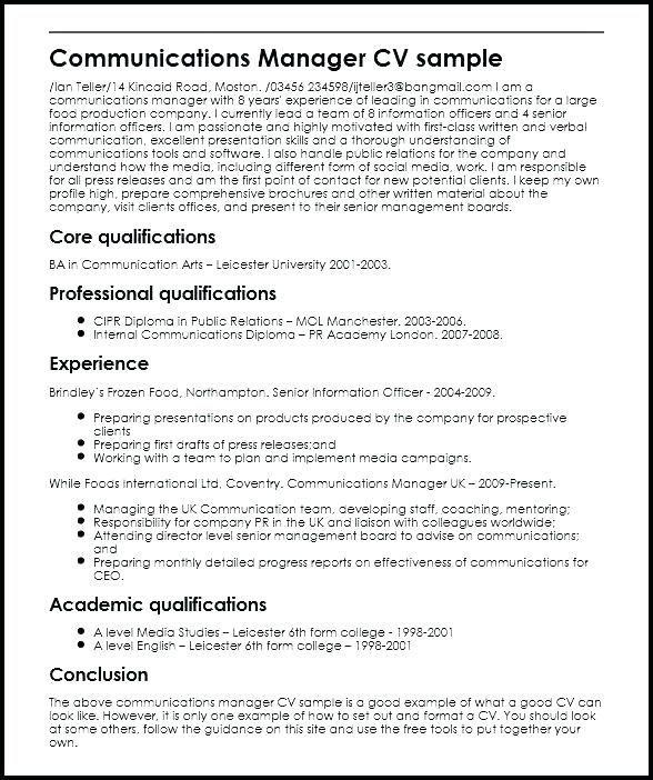 Image Result For Pr Resume Resume Sample Resume Free