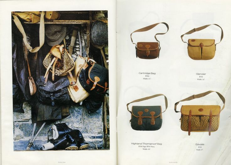 Barbour Bags - Old catalogue