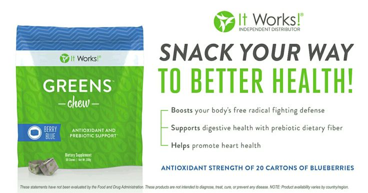 Greens chews!!! Healthyful snack in a convenient little chew!!! Awesomeness ★★★ #itworks