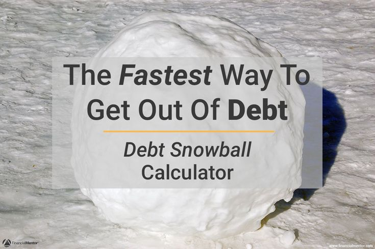 This debt snowball calculator shows you the easiest way to get out of debt. Order your payoff by amount owed (snowball) or highest interest rate first...