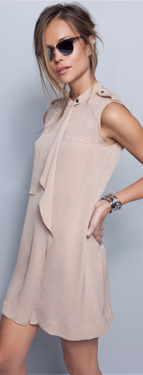 Women's fashion | Elegant neutral dress