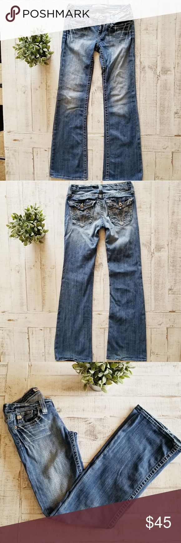 Big Star Sweet Ultra Low Rise Jeans Big Star Sweet Ultra Low Rise jeans in an adorable wash and fit! Very cute jeans in good used condition with minor wear on the hem as shown.   Size 26L Big Star Jeans