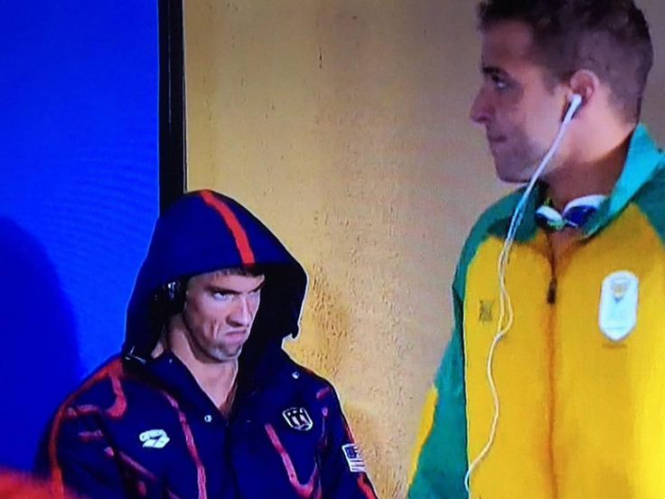 Rio 2016. Phelps face is so focused I love it