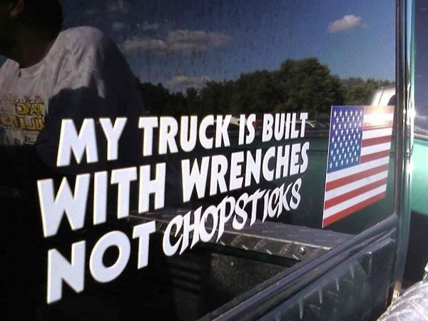 my truck is built with wrenches not chopsticks.