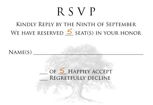 how to word rsvp card so the guests know how many can come with them. Beyond GREAT idea!