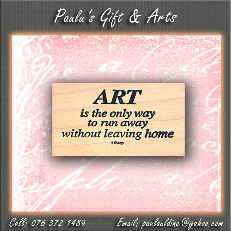 """Art is the only way to run away without leaving home."" - Twyla Tharp. #Quotes #Art"