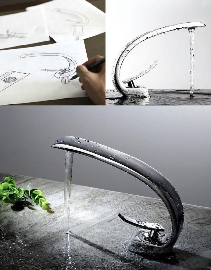 grifo precioso con diseño único curvado