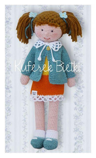 Kuferek Bietki: Niezapominajka - lalka wykonana na szydełku/ Vergi...