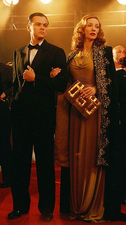 Leonardo DiCaprio as Howard Hughes and Cate Blanchett as Katharine Hepburn in 'The Aviator', 2004.