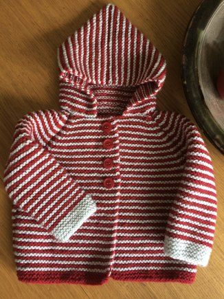 Garter Stitch Hooded Jacket knitting project shared on the LoveKnitting Community. Find more patterns, inspiration and tips at LoveKnitting.Com!