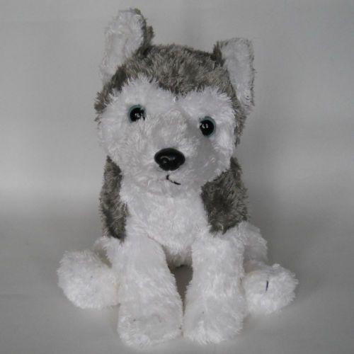 34 Ty Classic Slush Siberian Husky Dog Plush Grey With