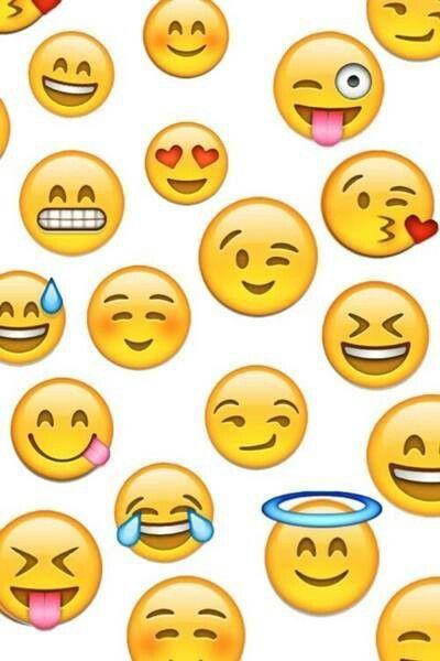 Emoji wallpaper | backgrounds | Pinterest | Papiers Peints, Souriant ...