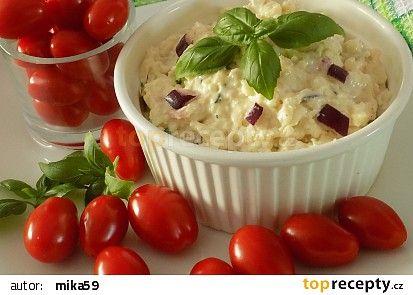 Mozzarellová pomazánka s bazalkou recept - TopRecepty.cz