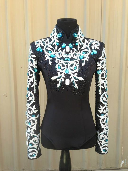 LJ Black white and turquoise