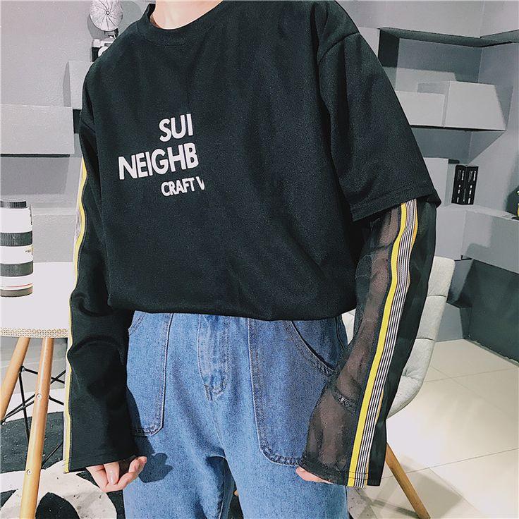 韓国ファッション 原宿系 長袖 Tシャツ レディース ロゴ トップス カラフル ダンス 衣装 派手 カワ 個性的 かわいい