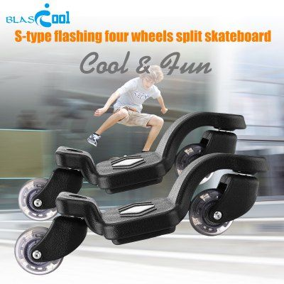 Just US$31.94, buy Blascool S01A S-shape Two Wheels Split Skateboard online shopping at GearBest.com Mobile.