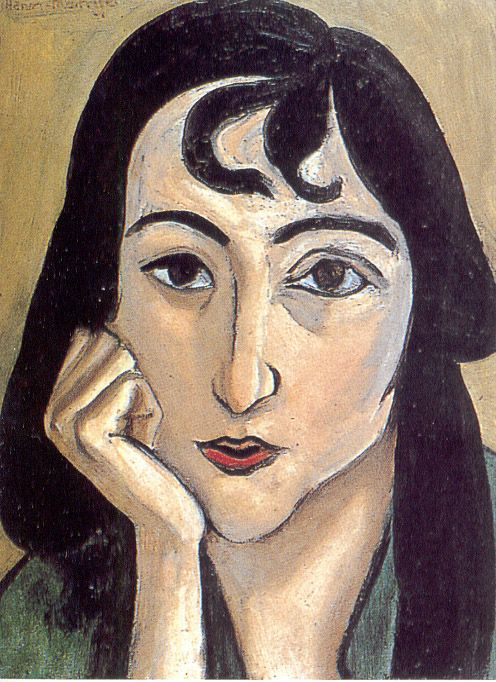 HEAD OF LORETTE WITH CURLS 34.9 x 26.4 cm. Private Collection 1917, Henri Matisse