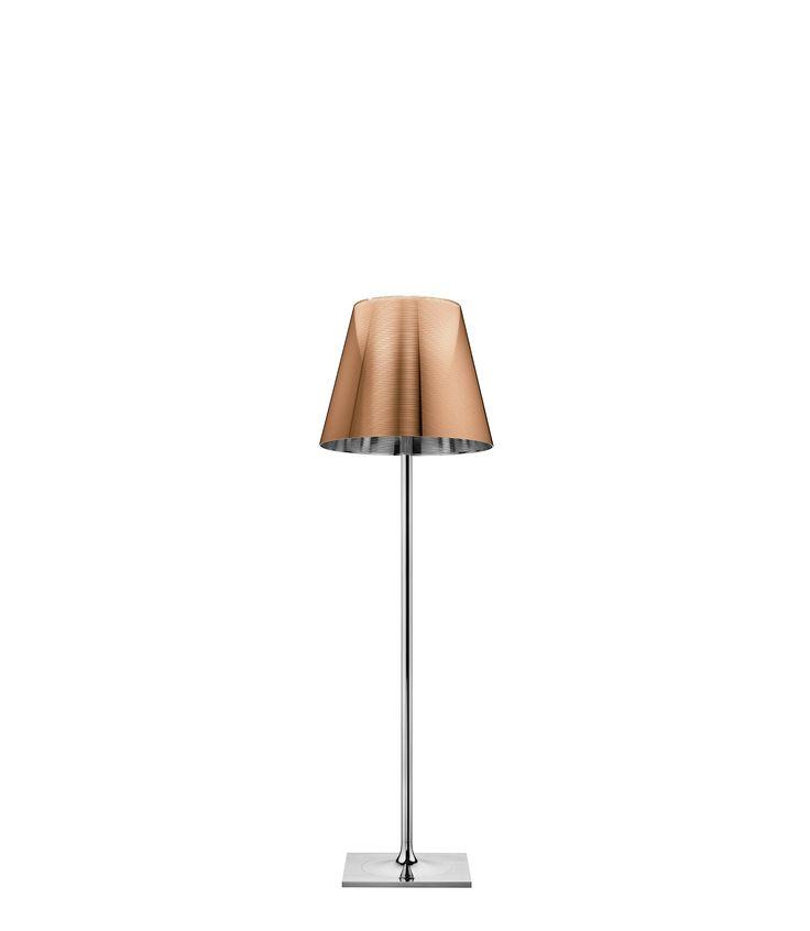 Floor lamp providing diffused lighting.