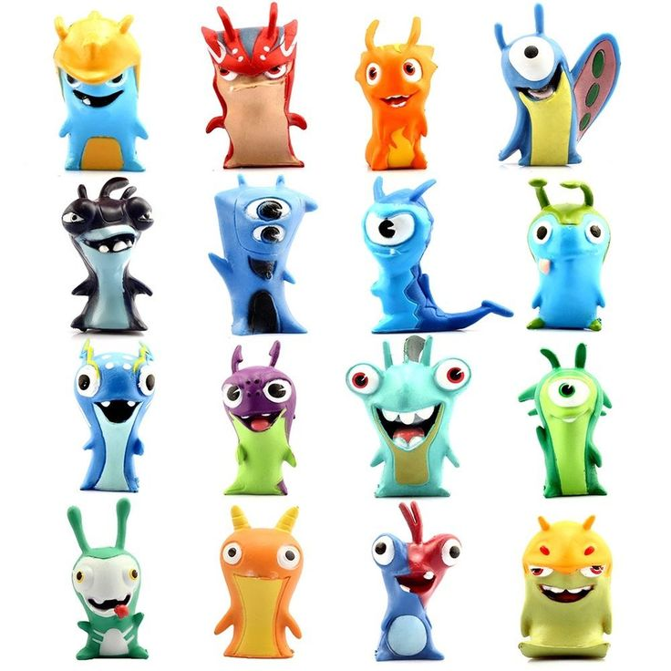 16PCS Slugterra Action Figures Burpy Plush Doll Stuffed Toy Gift Collection