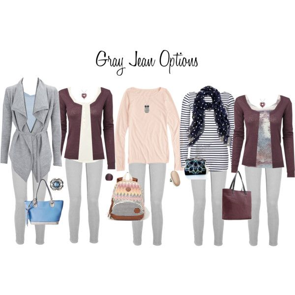 Gray Jean Options. The middle one is my fav