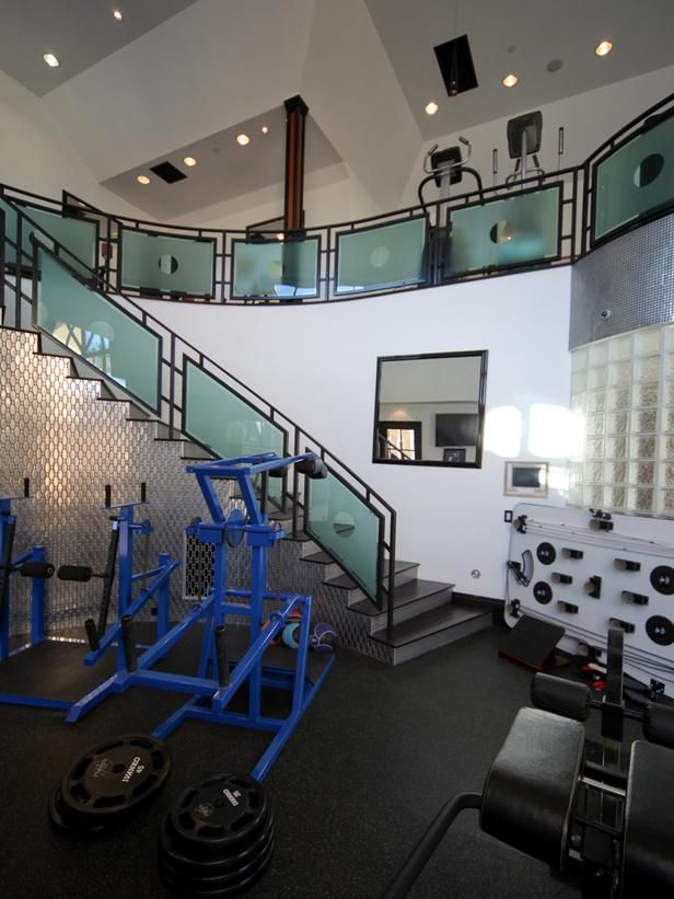 Best luxury gyms images on pinterest fitness design