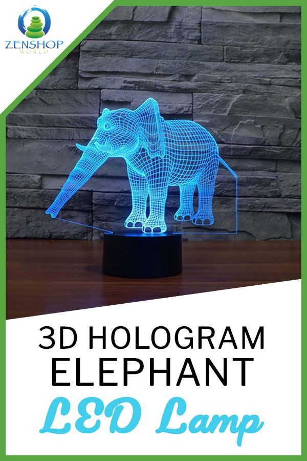 3d Hologram Elephant Led Lamp 3d Hologram Led Lamp Modern Rustic Decor