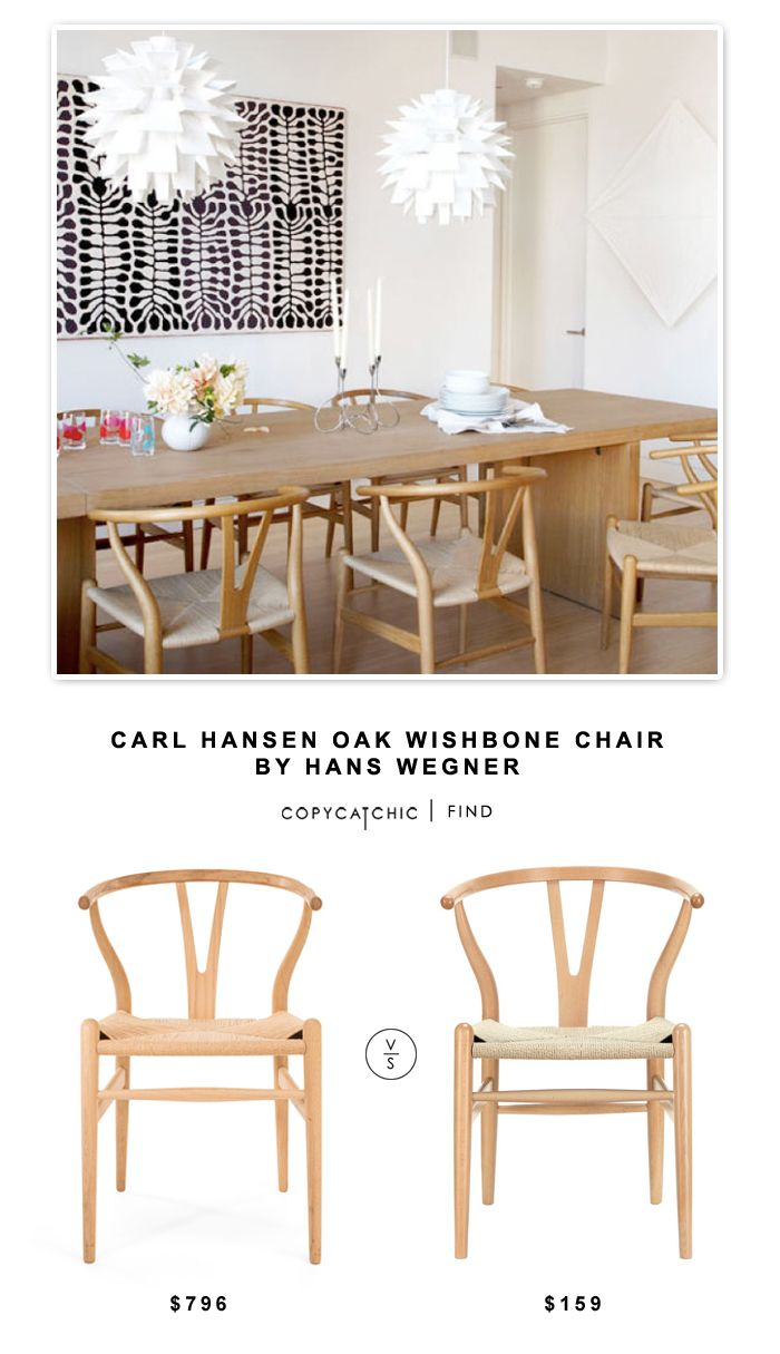 carl hansen oak wishbone chair by hans wegner copy cat chic cats home and chairs. Black Bedroom Furniture Sets. Home Design Ideas