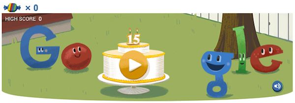 It's Google's Bday! Play with the doodle and remember to thank my beloved Big-G!