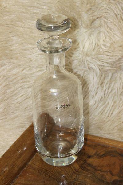 Vintage Flaschen - Karaffe 29cm Glas Kristall schlicht Marke Bettina - ein Designerstück von Manuelas-Allerlei-Shop bei DaWanda