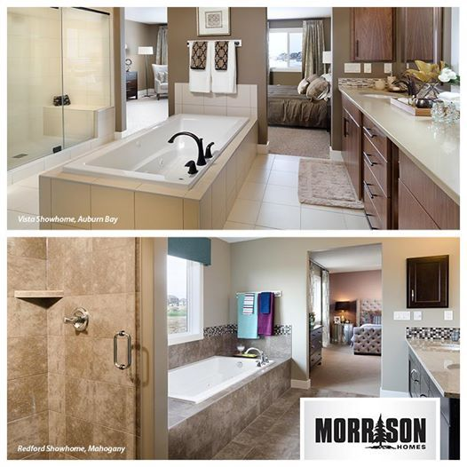 Tell us which style you like best, This or That?  A minimalist tile with a built in tub as a focal point (top) or a bolder tile (bottom)?