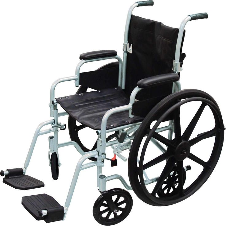 """Drive tr16 Poly Fly Light Weight Transport Chair Wheelchair with Swing away Footrests, 16"""" Seat"""